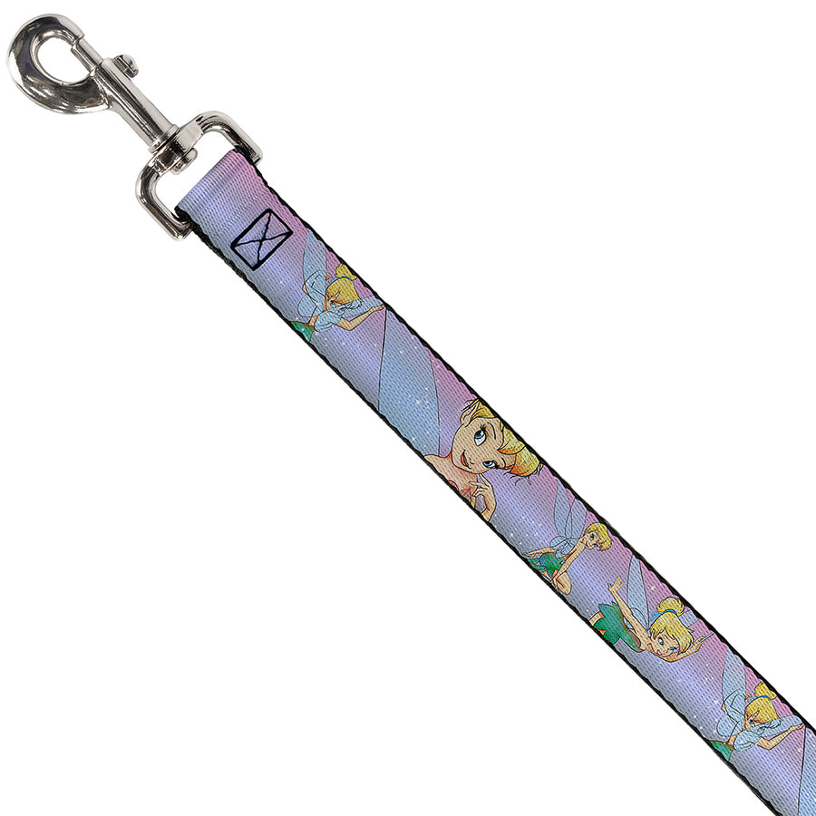 Dog Leash - Tinker Bell Poses Purple/Pink Fade