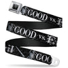 Harry Potter Logo Full Color Black/White Seatbelt Belt - Harry Potter GOOD VS. EVIL Black/White Webbing