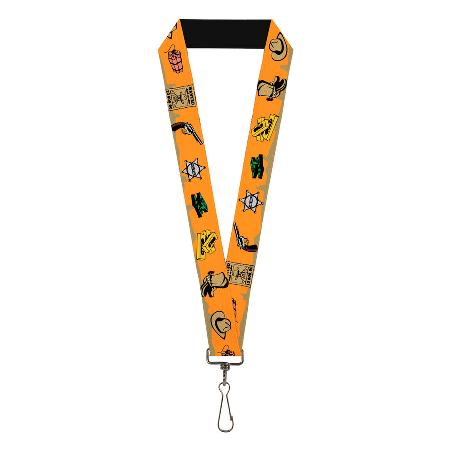 "Lanyard - 1.0"" - Old Western Multi Color"