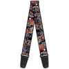 MARVEL UNIVERSE Guitar Strap - Spider-Man & Black Cat Scene Blocks