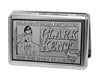 Business Card Holder - LARGE - CLARK KENT Pose MILD MANNERED REPORTER FOR THE DAILY PLANET Brushed Silver Black