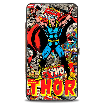 MARVEL COMICS Hinged Wallet - THE MIGHTY THOR Pose Stacked Retro Comics