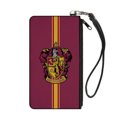 Canvas Zipper Wallet - SMALL - GRYFFINDOR Crest Vertical Stripe Burgundy Gold