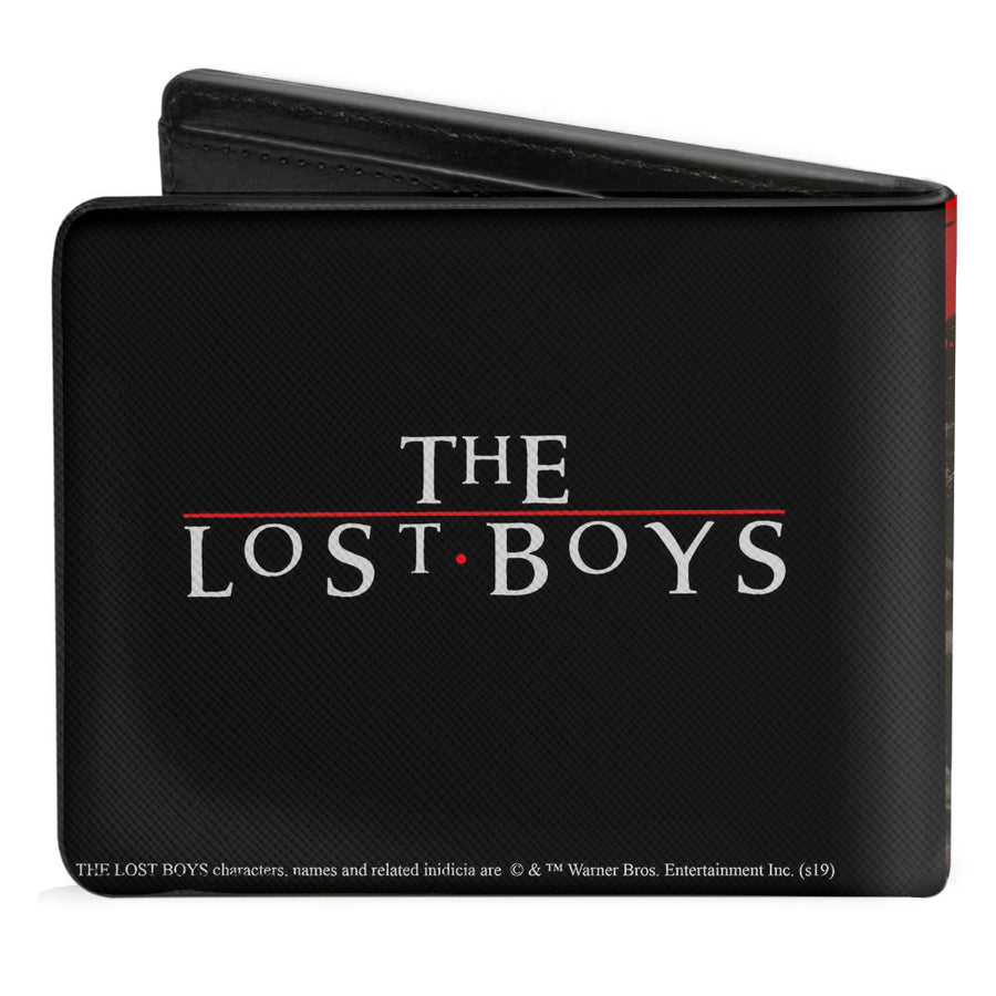 Bi-Fold Wallet - The Lost Boys Cast Pose Quote Red White + Logo Black White Red