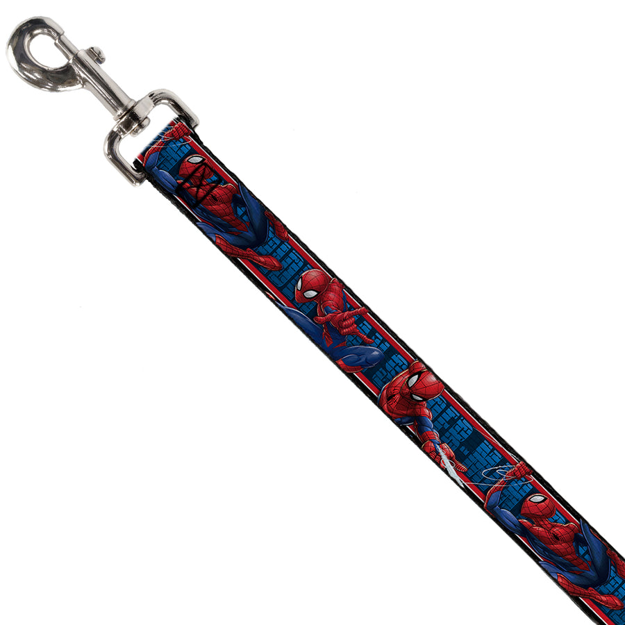Dog Leash - SPIDER-MAN 3-Action Poses/Bricks/Stripe Blues/Red/White