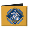 Canvas Bi-Fold Wallet - GEMINI IV-THE FIRST AMERICAN SPACEWALK Yellow Blues