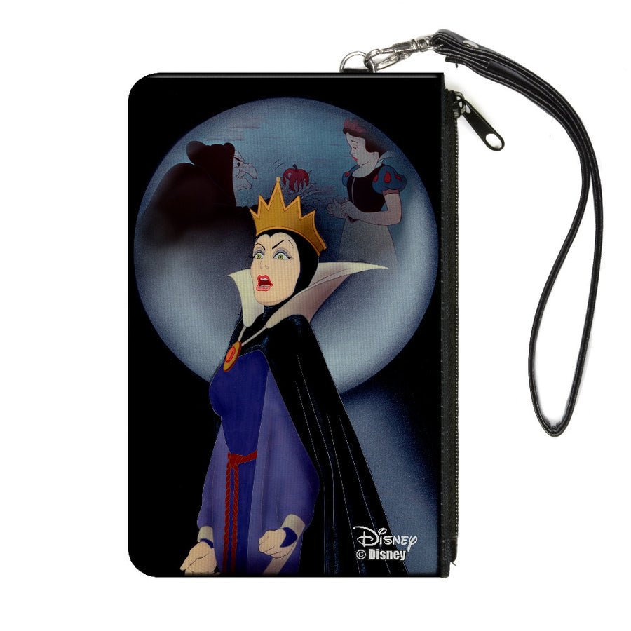 Canvas Zipper Wallet - LARGE - Snow White Evil Queen Old Hag & Snow White Apple Scene