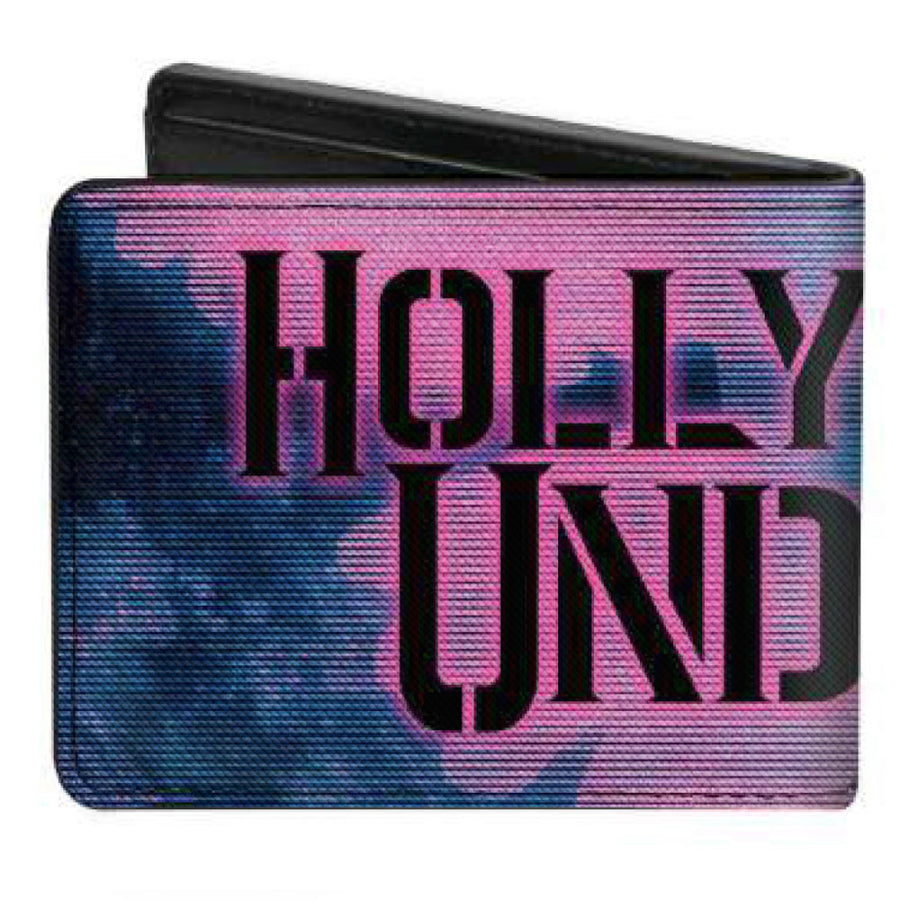Bi-Fold Wallet - HOLLYWOOD UNDEAD Dove TV Fuzz CLOSE-UP Blues Pinks Black