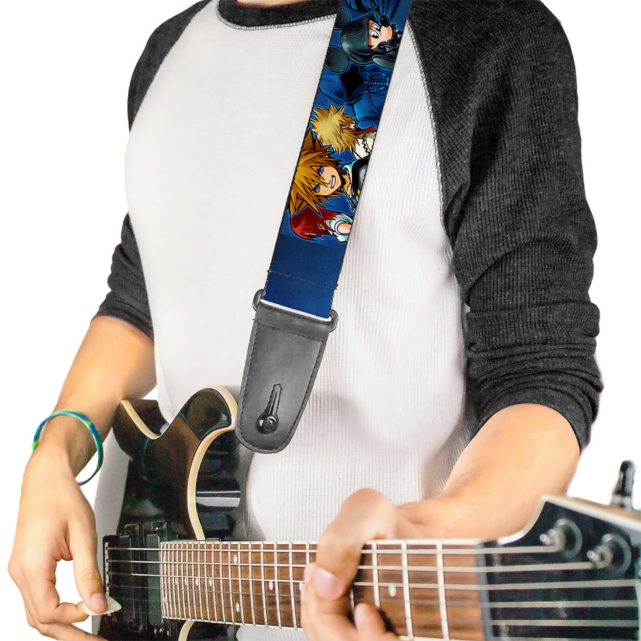 Guitar Strap - Kingdom Hearts 6-Character Pose Dark Blues