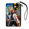 MARVEL UNIVERSE Canvas Zipper Wallet - LARGE - What If Jessica Jones Had Joined the Avengers? Issue #1 Cover Pose SHIELD Logo