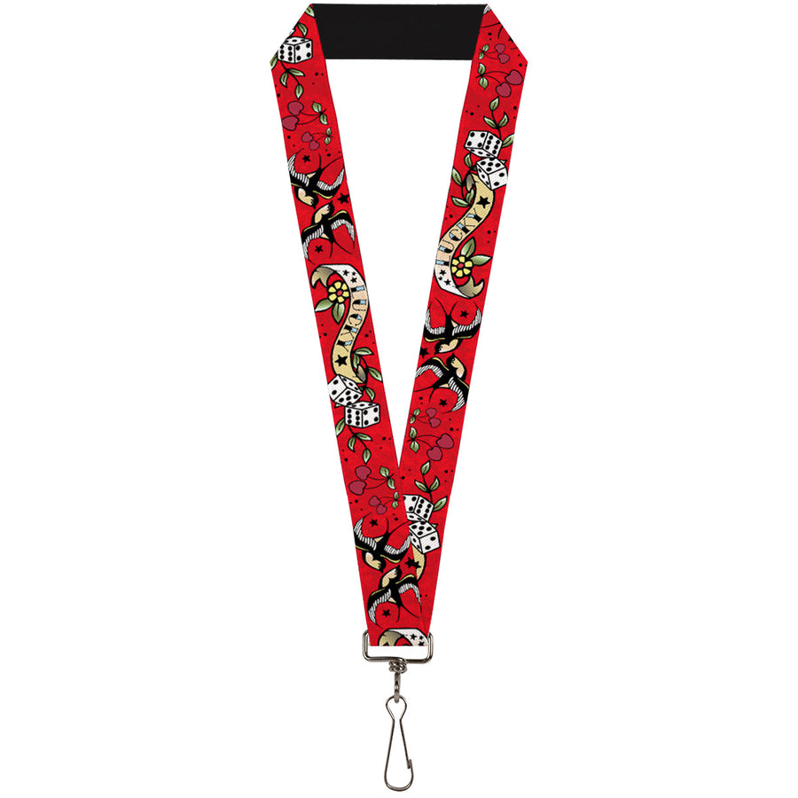 "Lanyard - 1.0"" - Lucky Red"