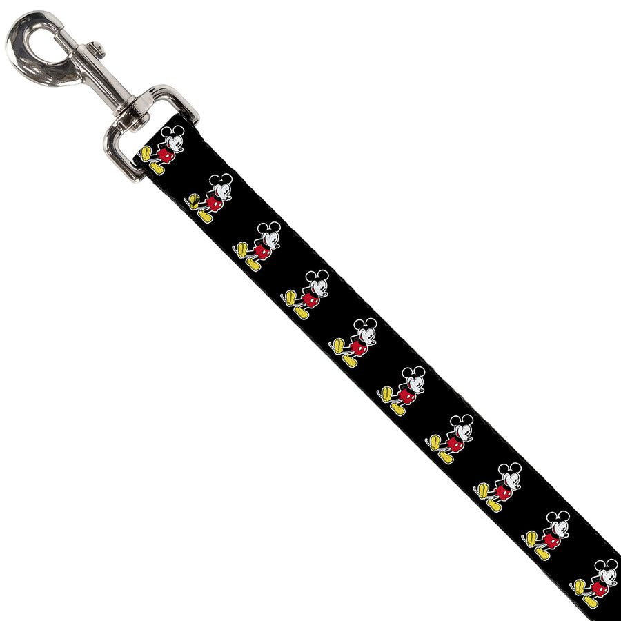 Dog Leash - Classic Mickey Mouse Pose Black
