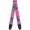 Guitar Strap - Ford Oval w Text PINK REPEAT