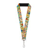 "Lanyard - 1.0"" - ADVENTURE IS OUT THERE Stacked Wilderness Explorer Badges Tan Multi Color White"