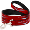 Dog Leash - 1955-57 CHEVROLET V Emblem Red/Silver