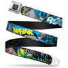 Batman Full Color Black Yellow Seatbelt Belt - Batman & Villains1 Webbing