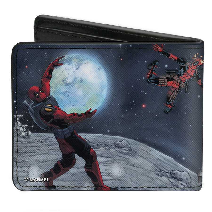 MARVEL DEADPOOL Bi-Fold Wallet - Deadpool A Space Oddity Issue #30 Comic Cover Holding Earth Pose