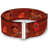 Cinch Waist Belt - Pinocchio Poses Black White Multi Color