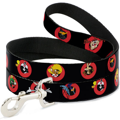 Dog Leash - Looney Tunes Characters Bullseye Pose Black