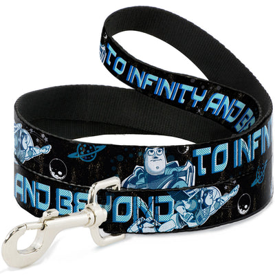 Dog Leash - Buzz Poses/Stars TO INFINITY AND BEYOND Black/Blues