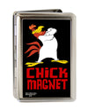 Business Card Holder - LARGE - Foghorn Leghorn CHICK MAGNET Black Red FCG
