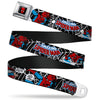 MARVEL UNIVERSE Spider-Man Full Color Seatbelt Belt - JRNY-Spider-Man in Action2 w/AMAZING SPIDER-MAN Webbing
