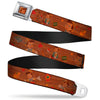 Pinochio CLOSE-UP Full Color Wood Grain Seatbelt Belt - Pinocchio Poses Black/White/Multi Color Webbing