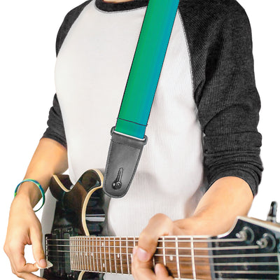 Guitar Strap - Teal Ombre