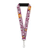 "Lanyard - 1.0"" - Pebbles Face Pose WILD CHILD Pink Black White"