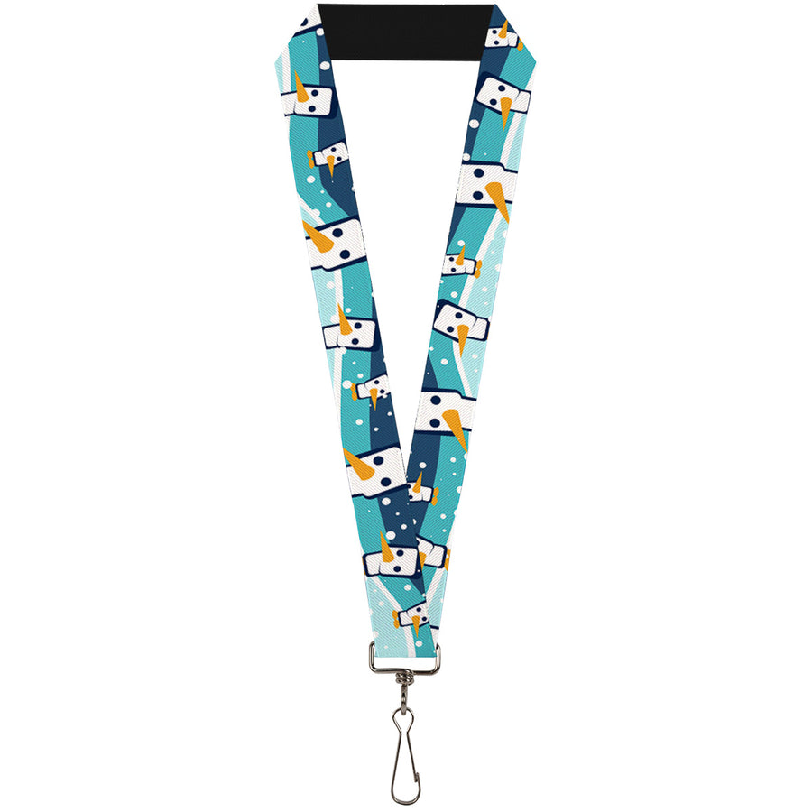 "Lanyard - 1.0"" - Block Penguins Navy"