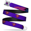 Bizzaro Logo Full Color Blue Seatbelt Belt - Bizzaro Logo w/Bizzaro Pose Webbing