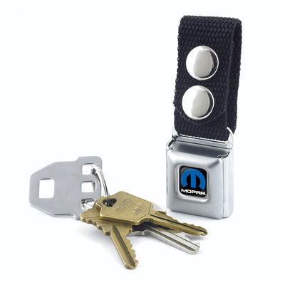 Keychain - MOPAR Logo Full Color Black Blue White