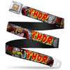 MARVEL COMICS Marvel Comics Logo Full Color Seatbelt Belt - THE MIGHTY THOR Action Poses Webbing