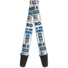 Guitar Strap - Star Wars R2-D2 Bounding Parts4 White Black Blue Gray Red