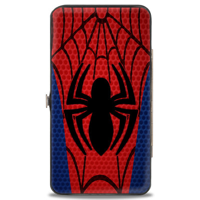 2016 SPIDER-MAN Hinged Wallet - Spider-Man Chest Spider4 Blues Reds Black