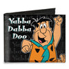 Canvas Bi-Fold Wallet - Fred YABBA DABBA DOO Pose2 Black Gray