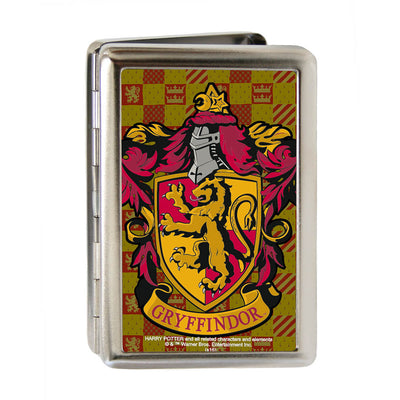Business Card Holder - LARGE - Harry Potter GRYFFINDOR Crest FCG Gold Burgundy