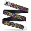 SEXY INK GIRLS Full Color Black White Seatbelt Belt - Allyson Webbing