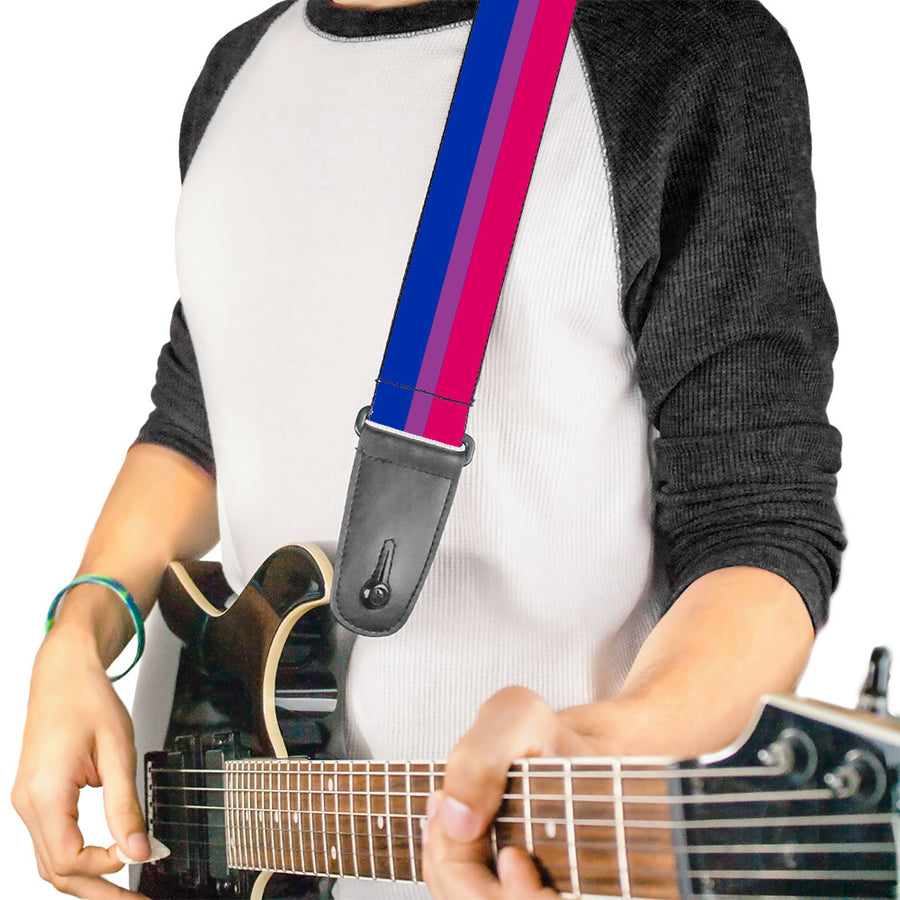 Guitar Strap - Flag Bisexual Pink Purple Blue