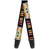 Guitar Strap - Star Wars The Child Chibi Pod Pose THIS IS THE WAY Black Multi Color