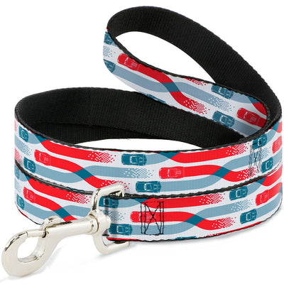 Dog Leash - Cars 3 Cars Crossing White/Blues/Reds