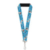 "Lanyard - 1.0"" - Olaf Heart Raindrop Sketch Blues Black"