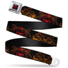 Aladdin 2019 Snake Jafar Full Color Black/Reds Seatbelt Belt - Aladdin 2019 Jafar Pose/Snake/Tiger/DARK AND MYSTERIOUS Black/Golds/Reds Webbing