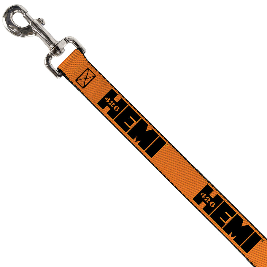 Dog Leash - HEMI 426 Logo Repeat Orange/Black