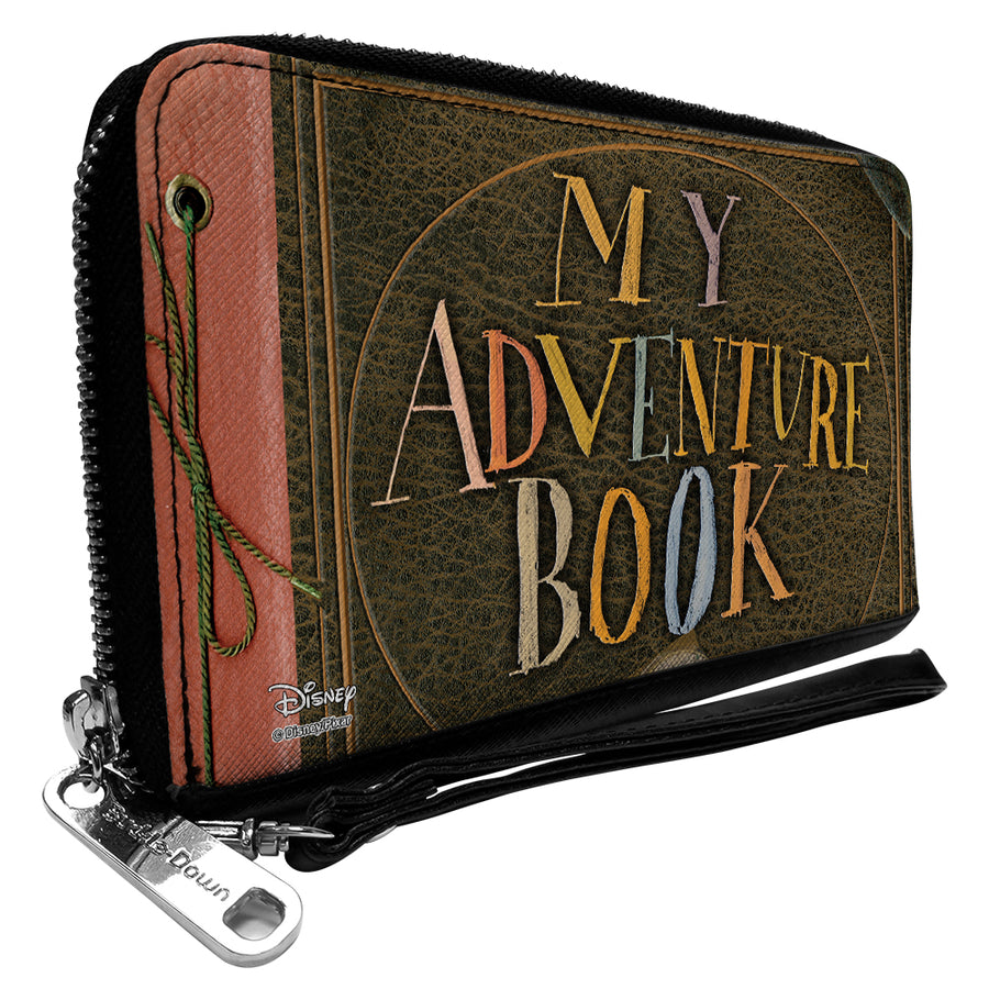 Women's PU Zip Around Wallet Rectangle - Up MY ADVENTURE BOOK Cover