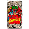 MARVEL COMICS Hinged Wallet - 6-Retro Avengers Group Pose MARVEL COMICS Logo Stacked Comic Scenes