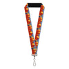 "Lanyard - 1.0"" - See America-Zion National Park Mt Carmel Highway Landscape Blue Gold Red Navy"