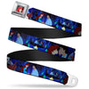 Ariel CLOSE-UP Full Color Seatbelt Belt - The Little Mermaid Ariel & Eric Boat Scenes Webbing