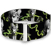 Cinch Waist Belt - Maleficent Smiling Diablo Sketch Lightning Black Grays Greens