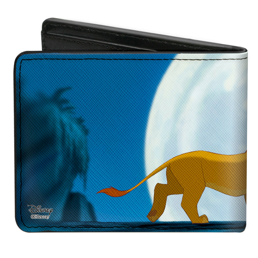 Bi-Fold Wallet - The Lion King Hakuna Matata Simba Pumbaa Timon Growing Up Moonlight Scene